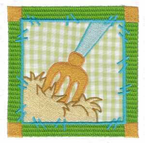 Farming Fork Embroidery Design