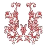Floral Redwork