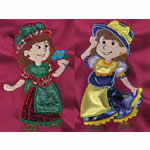 10 set Applique Country Girls