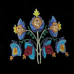 Jacobean Flower Applique