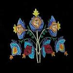 Jacobean Flower Applique