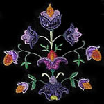Jacobean Applique  Floral Display