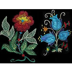 10 set Jacobean Applique Floral