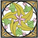 Art Nouveau Spiral Flower