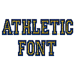 Large Athletic Font