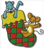 Cat and Mouse Xmas Stocking