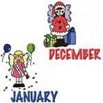 12 Set Calendar Months