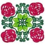 Rose Quilt Block
