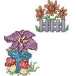 90 set Garden Cross Stitch