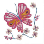 Pink Butterfly on Flower