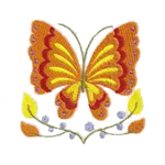 Jacobean Floral Butterfly