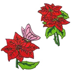 16 set of Poinsettias