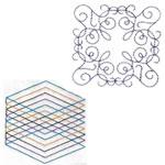 10 set Quilting Block Doodles