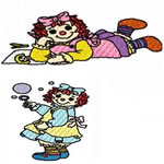 10 set Raggedy Dolls