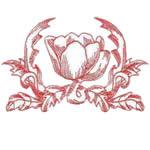 Single Redwork Tulip
