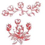 Redwork Tulips