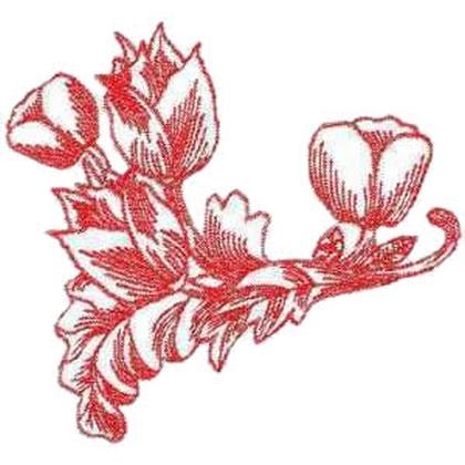 Twin Tulip Bulbs Embroidery Design