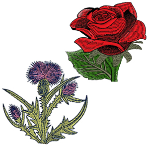 10 set Unique Flowers Embroidery Design