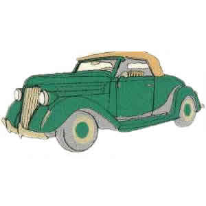 Vintage Custom Car Embroidery Design