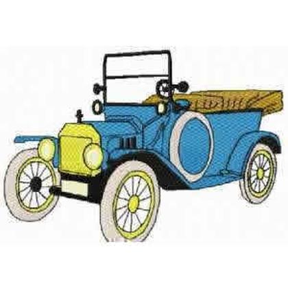 1910 Vintage Motor Car Embroidery Design