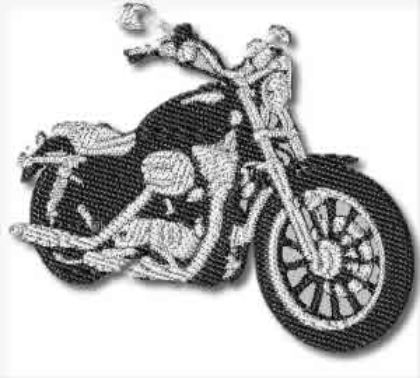 V Twin Motorbike Embroidery Design