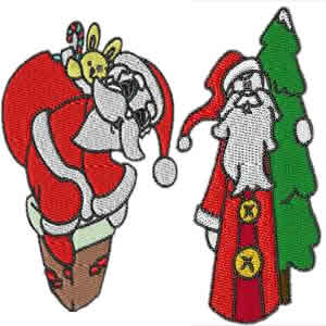 20 set Christmas Santa Embroidery Design