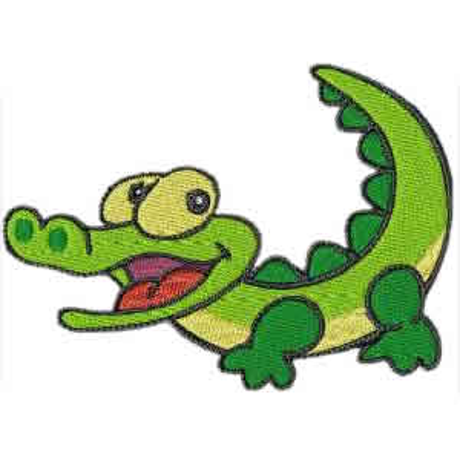 Alligator Machine Embroidery Design 061814 by EmbroidDesigns  |Alligator Design Embroidery Floss